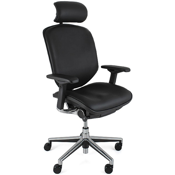Enjoy Leather Office Chair (With Headrest)