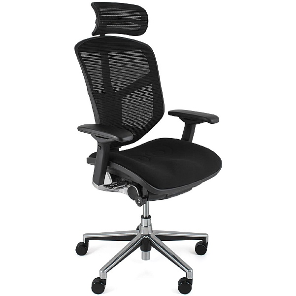 Enjoy Mesh & Fabric Office Chairs (With Headrest)