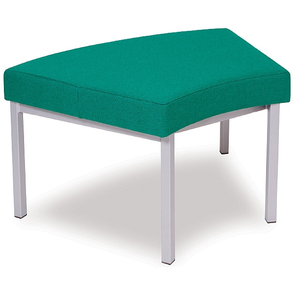 Upholstered Curved Stool