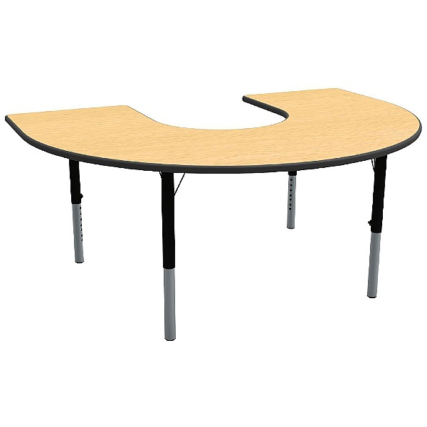 Height Adjustable Horseshoe Theme Table