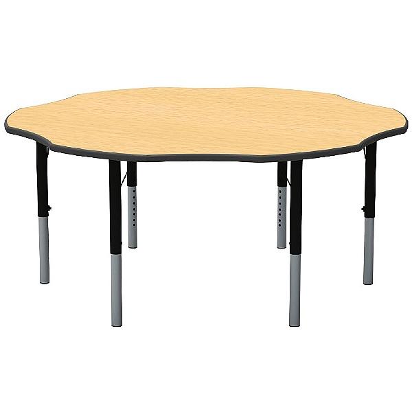 Height Adjustable Flower Theme Table