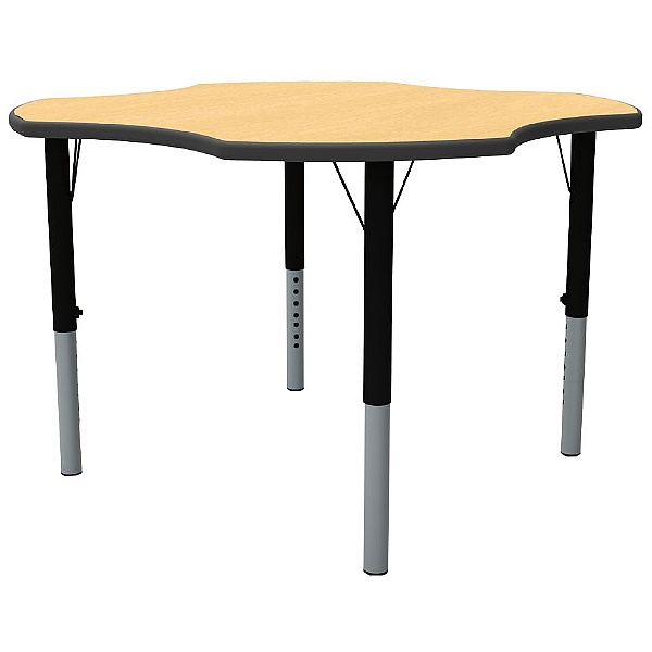 Height Adjustable Clover Theme Table