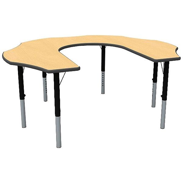 Teachers Height Adjustable Flower Theme Table