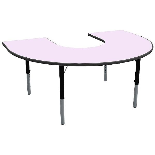 Height Adjustable Horseshoe Pastel Theme Table
