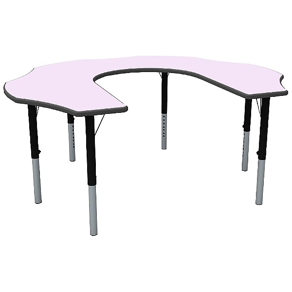 Height Adjustable Teachers Flower Pastel Theme Table