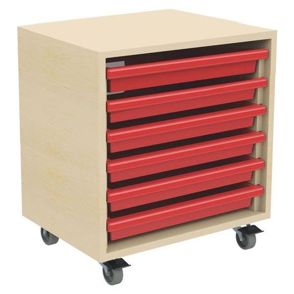 6 Tray Mobile A3 Art & Paper Storage Unit