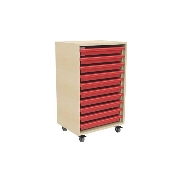 10 Tray Mobile Art & Paper Storage Unit