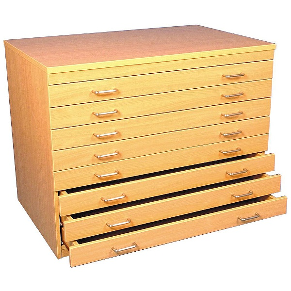 8 Drawer Beech A1 Plan Chest