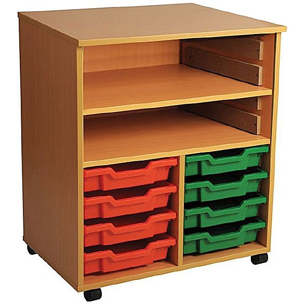 8 Tray Double Bay Mobile Storage Unit