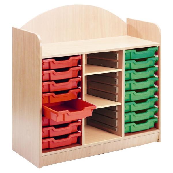 Stretton 16 Tray Storage Unit With Adjustable Shel