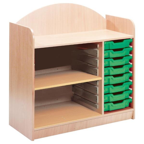 Stretton 8 Tray Storage Unit With Adjustable Shelf