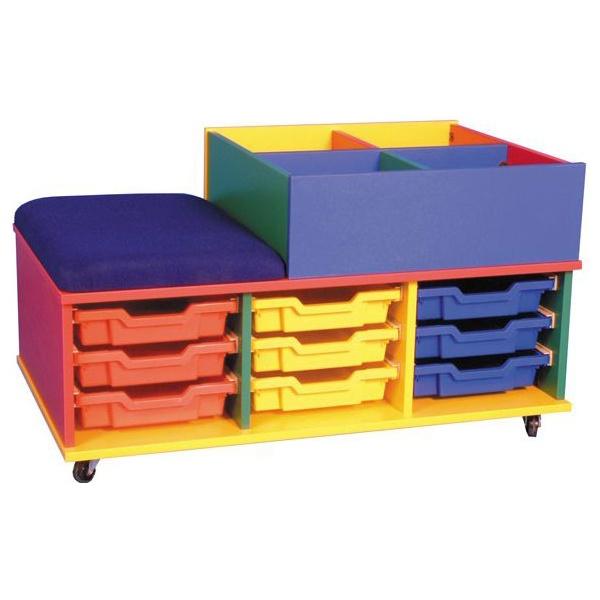 Mobile Seat & Tray Storage Kinderbox