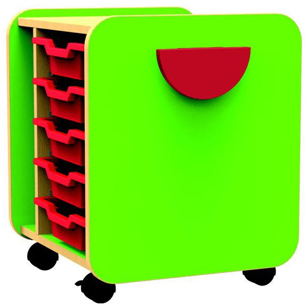 Funky Single Pull-Out 5 Tray Unit