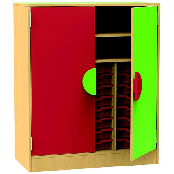 Funky Storage Cupboard With Trays & Shelves