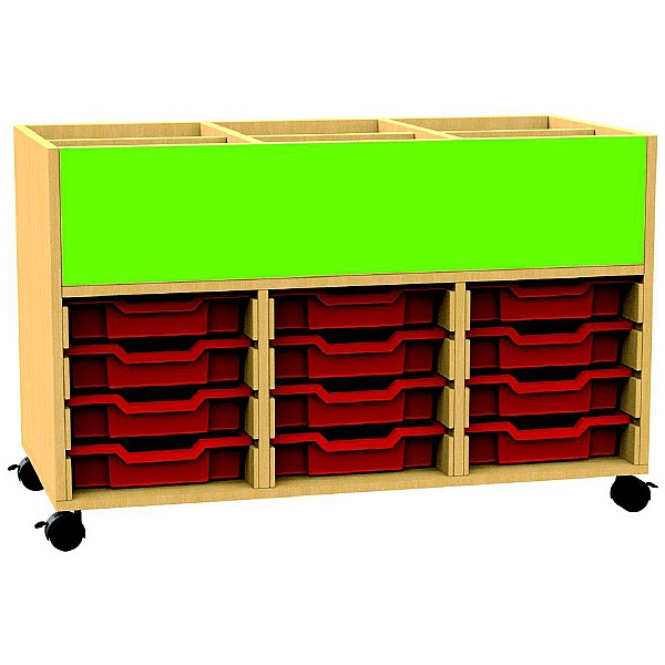Funky Triple Bay Tray Storage With Book Browser