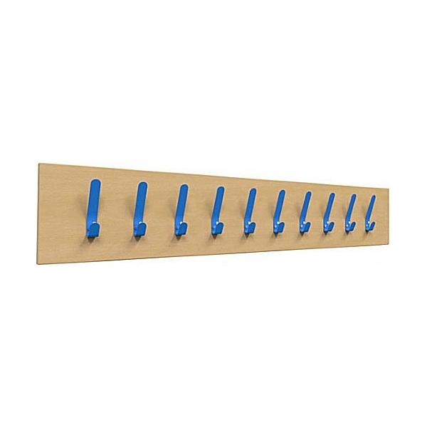 Single Colour Classroom Coat Hook Rails 10