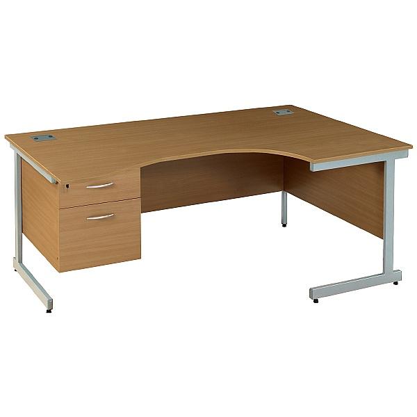 Solar Cantilever Ergonomic Desks With Single Ped