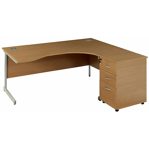 Solar Ergonomic Cantilever Desk With Desk High Ped