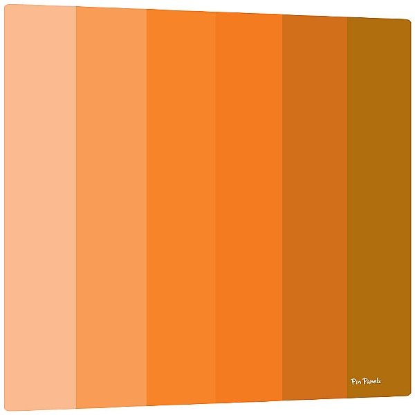 Pin Panelz Shades Noticeboards - Orange