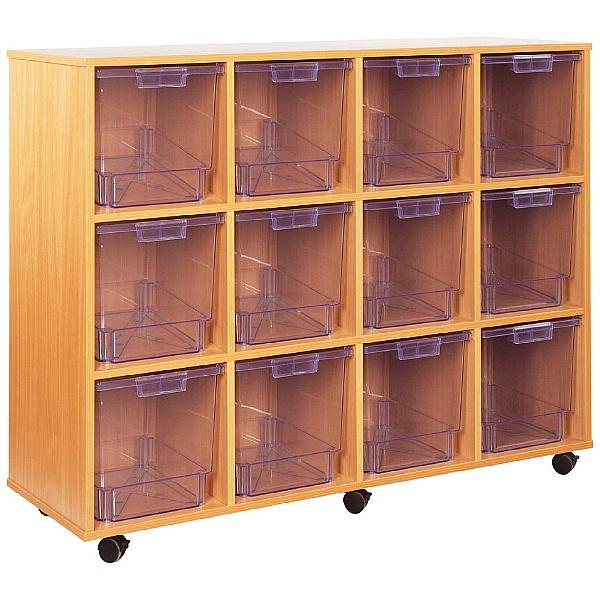 Crystal Clear 12 Quad Tray Storage Unit