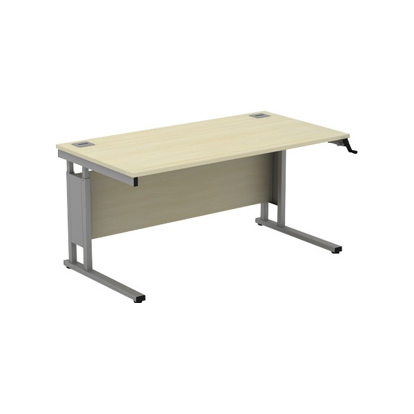 Accolade Height Adjustable Cantilever Rectangular Desk