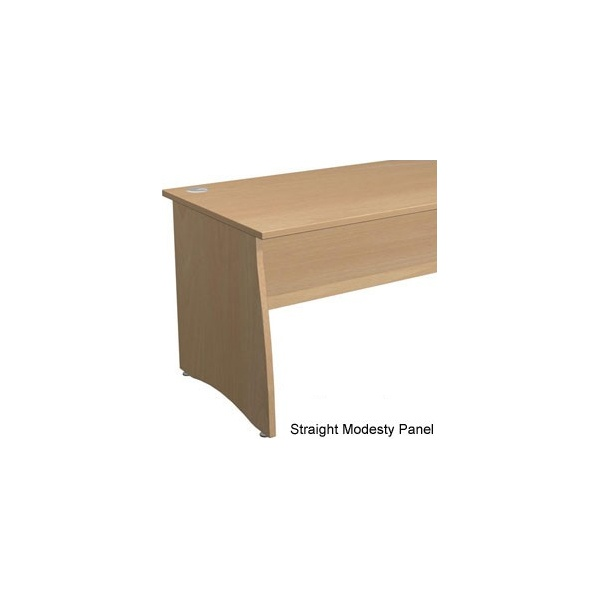 Gravity Contract Shallow Rectangular Panel End Desk