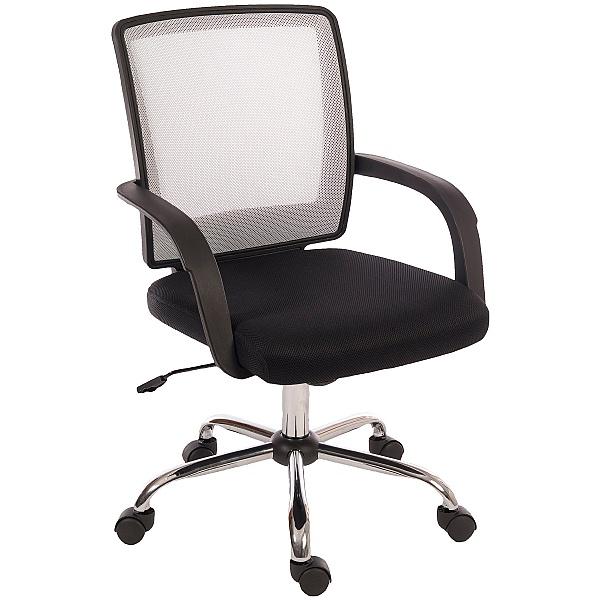 Twist Mesh Back Executive Operator Chair White