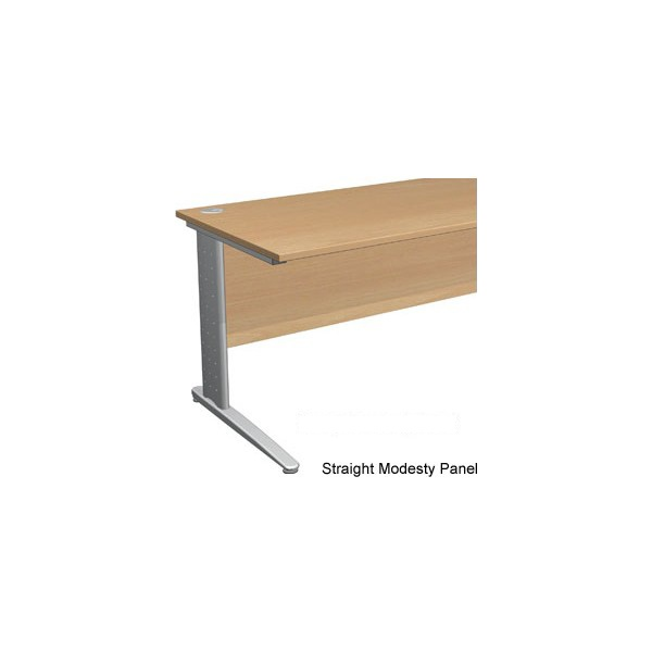 Gravity Plus Shallow Rectangular Cantilever Leg Desk