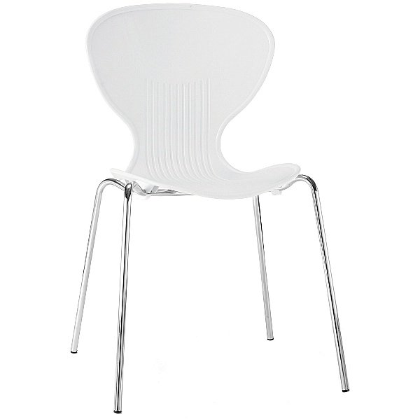 Curve Polypropylene Bistro Chair White