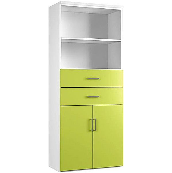 NEXT DAY Kaleidoscope Double Door Combination Cupboards With Drawers and Shelves