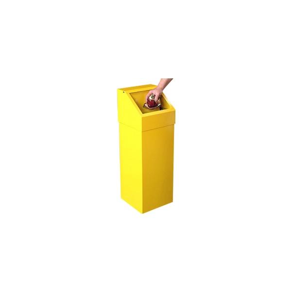 Fire Retardant Push Flap Litter Bin