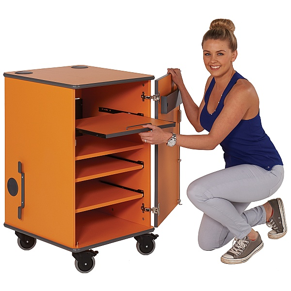 MM100 Coloured Mobile Multi-Media Cabinet