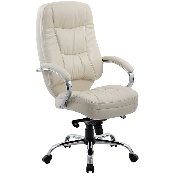 Rimini Cream Leather Manager Chair