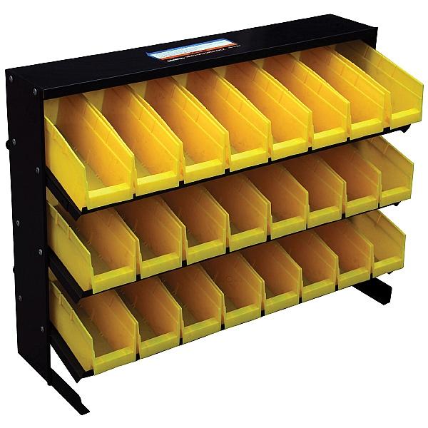 24 Bin Free Standing Storage Rack