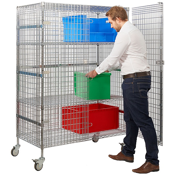 Chrome Wire Security Trolley