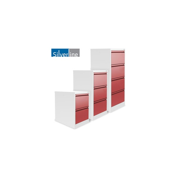 Silverline Two Tone M:Line Filing Cabinets