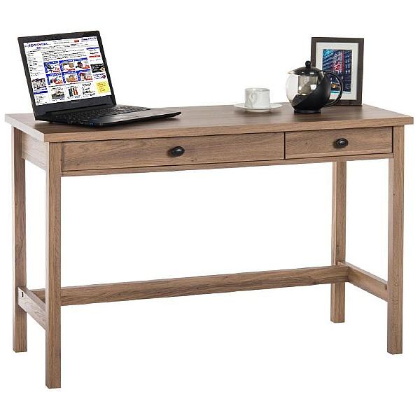 Oak Console Laptop Computer Desk
