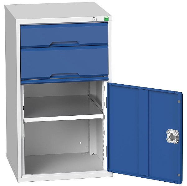 Bott Verso Drawer Cabinets - 525mm Wide x 900mm High - 2 Drawers With Cupboard