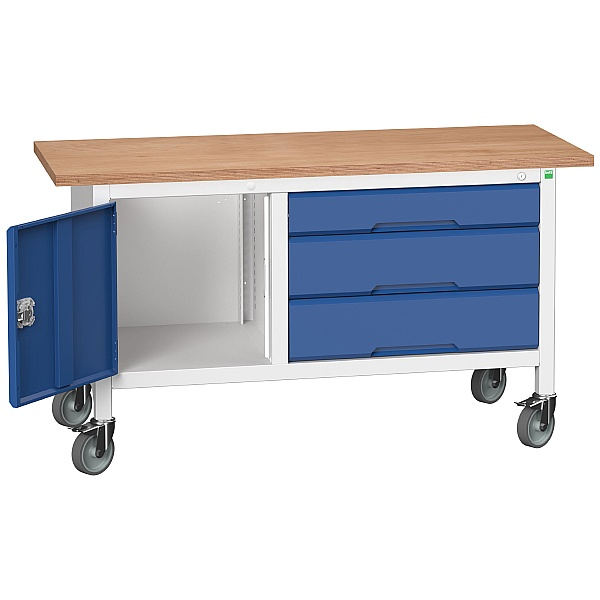 Bott Verso Mobile Storage Benches - 1500mm Cupboard With 3 Drawer