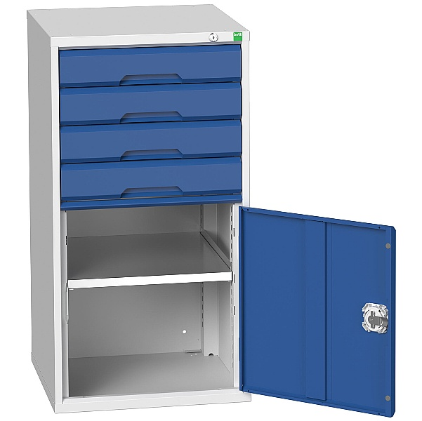Bott Verso Drawer Cabinets - 525mm Wide x 1000mm High - 4 Drawers With Cupboard