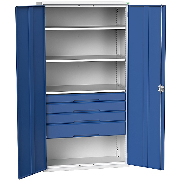 Bott Verso Kitted Cupboard 1050W 3 Shelves and 4 Drawers
