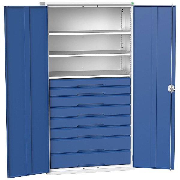 Bott Verso Kitted Cupboard 1050W 3 Shelves and 8 Drawers