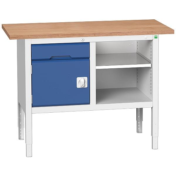 Bott Verso Storage Benches - 1250mm With Cupboard & Drawer