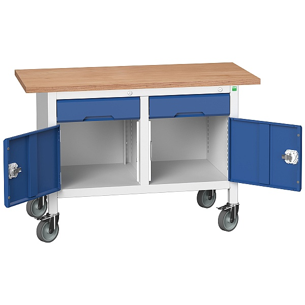 Bott Verso Mobile Storage Benches - 1250mm With 2 Cupboards & Drawers