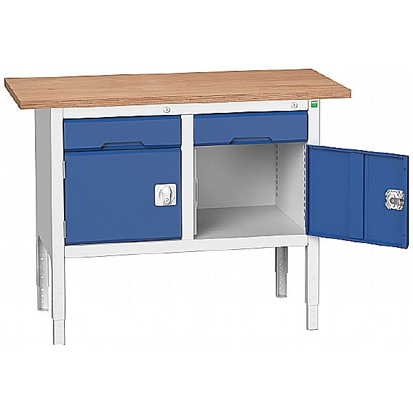 Bott Verso Storage Benches - 1250mm With 2 Cupboards & Drawers