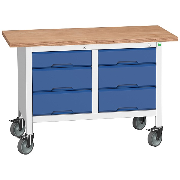 Bott Verso Mobile Storage Benches - 1250mm With 6 Drawers