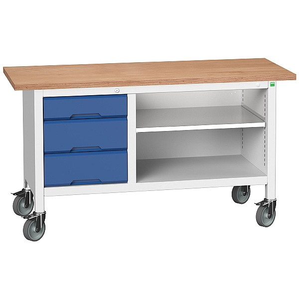 Bott Verso Mobile Storage Benches - 1500mm With 3 Drawers
