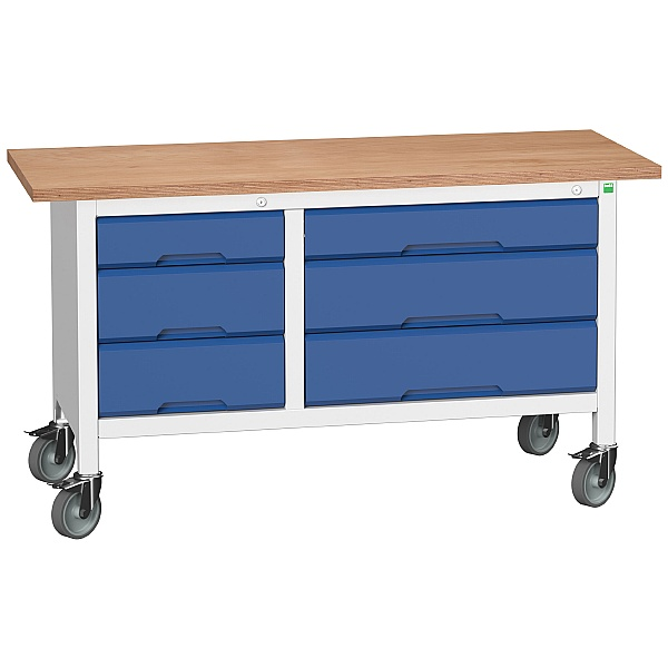 Bott Verso Mobile Storage Benches - 1500mm With 6 Drawers
