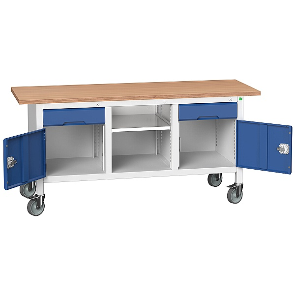 Bott Verso Mobile Storage Benches - 1750mm With 2 Cupboards & 2 Drawers