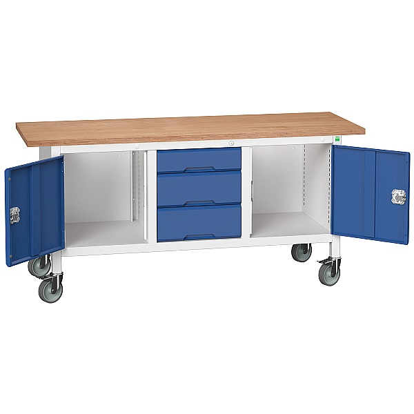Bott Verso Mobile Storage Benches - 1750mm With 2 Cupboards & 3 Drawers